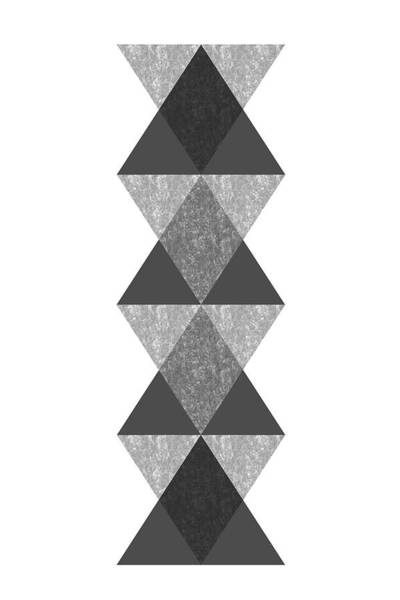 Wall Art - Digital Art - Abstract Totem by Nordic Print Studio