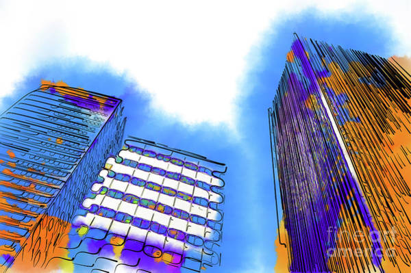 Digital Art - Abstract Towers by Kirt Tisdale