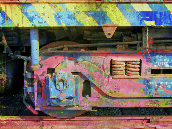 Photograph - Abstract Train Truck I by David King