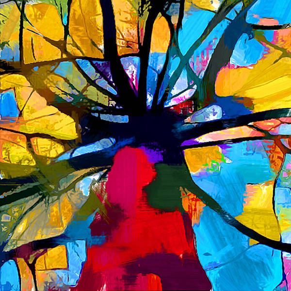 Wall Art - Painting - Abstract Tree by Chris Butler