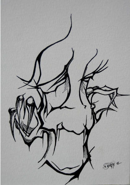 Drawing - Abstract Tribal  by Jhiatt