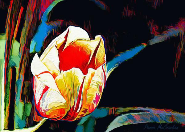 Digital Art - Abstract Tulip by Pennie McCracken