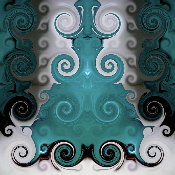 Digital Art - Abstract Turquoise Boot Vase by Kathy K McClellan