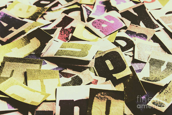 Wall Art - Photograph - Abstract Typescript by Jorgo Photography - Wall Art Gallery