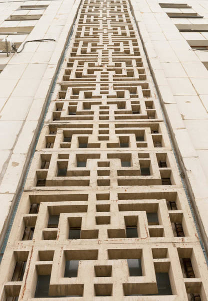 Photograph - Abstract Urban Cement Details On An Apartment by John Williams