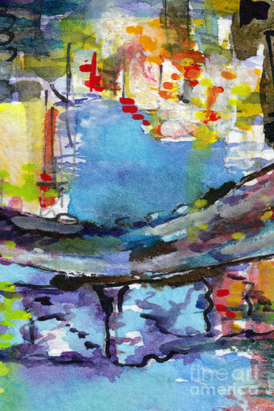 Painting - Abstract Venice Reflections Watercolor by Ginette Callaway
