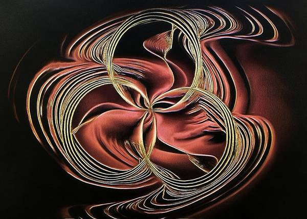Digital Art - Abstract Visuals - Entwined Algorythms by Charmaine Zoe