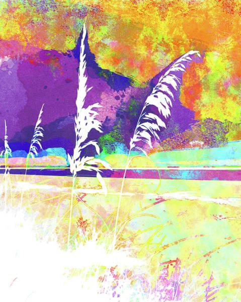 Wall Art - Mixed Media - Abstract Watercolor - Morning Sea Oats II by Chris Andruskiewicz