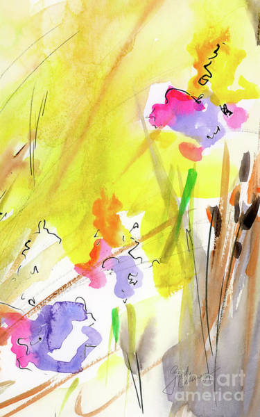 Painting - Abstract Watercolor Summer Splender by Ginette Callaway