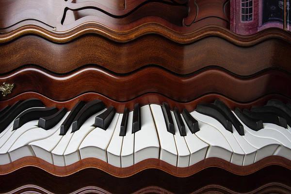 Wall Art - Photograph - Abstract Wavey Piano Keys by Garry Gay