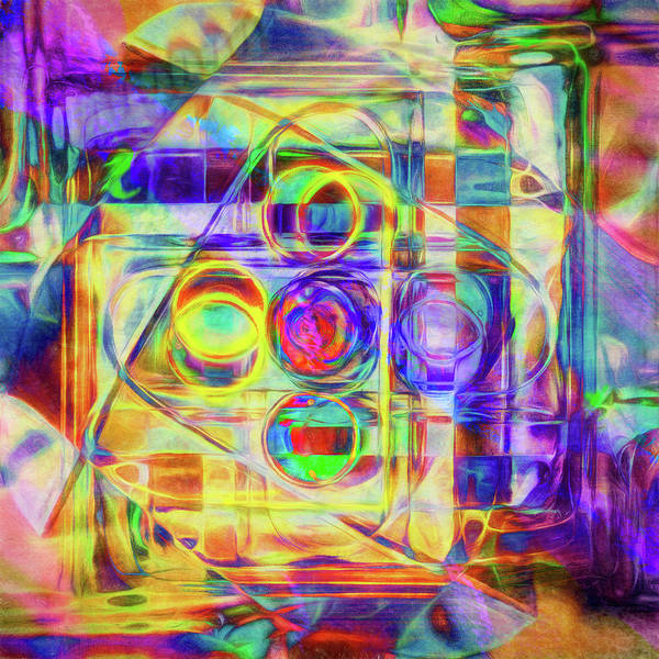 Jewels Digital Art - Abstract - Wheels Within Wheels by Jon Woodhams