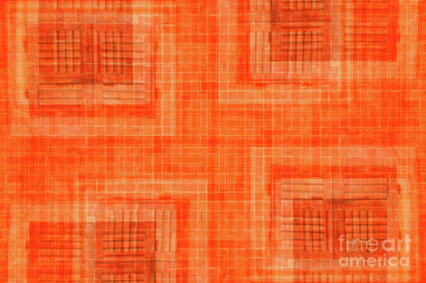 Photograph - Abstract Window On Orange Wall by Silvia Ganora