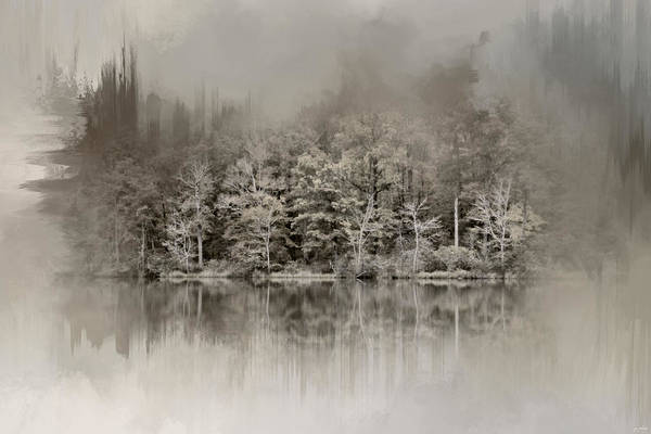Photograph - Abstract Winter Lake by Jai Johnson
