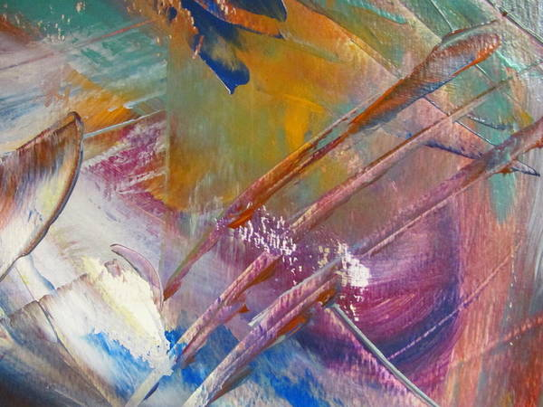 Painting - Abstract With Gold - Close Up 3 by Anita Burgermeister