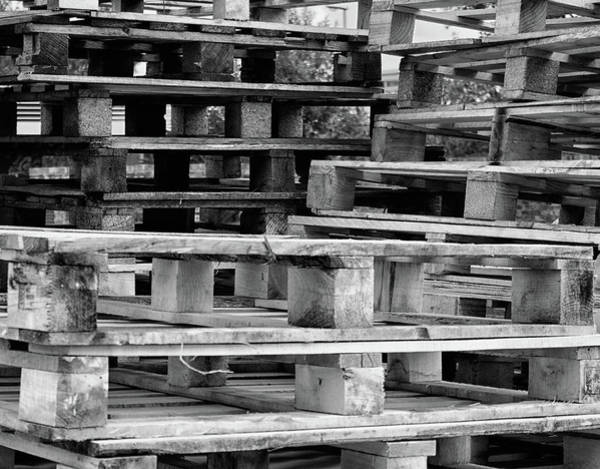 Pallet Wall Art - Photograph - Abstract Wooden Palets by Martin Newman