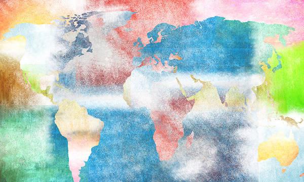 East Africa Digital Art - Abstract World Map by Art Spectrum