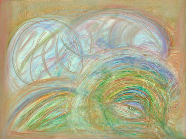 Strange Land Wall Art - Pastel - Laying In Wait by Diane Morrison