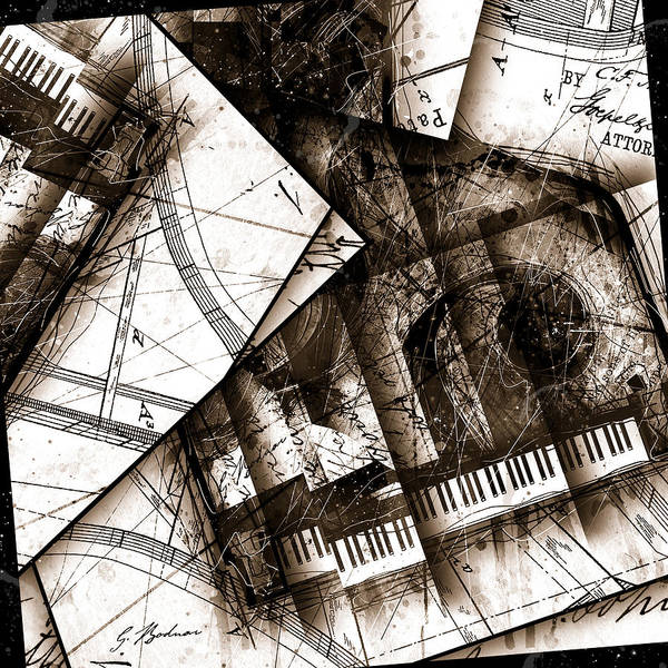 Grand Piano Digital Art - Abstracta 24 Cadenza by Gary Bodnar