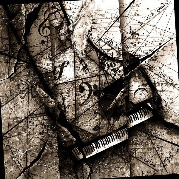 Grand Piano Digital Art - Abstracta 27 The Grand Illusion  by Gary Bodnar