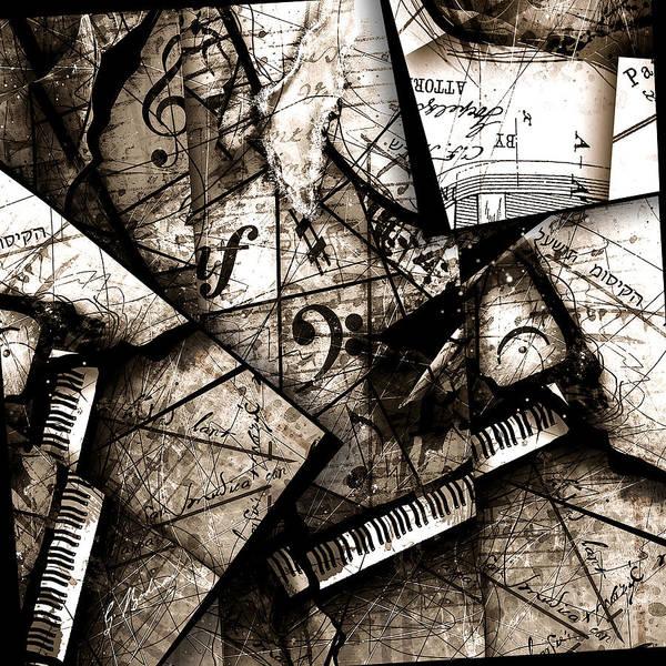 Grand Piano Digital Art - Abstracta 29 Coda by Gary Bodnar