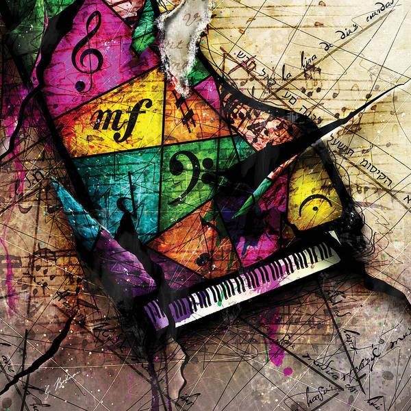 Grand Piano Digital Art - Abstracta_04 Grand Illusion by Gary Bodnar