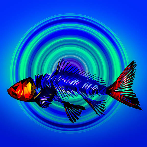 Photograph - Abstracted Fish by Michael Arend