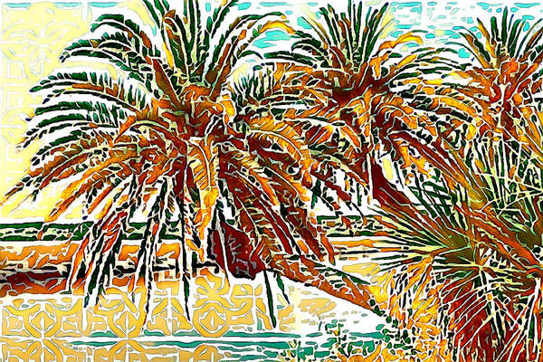 Photograph - Abstracted Loop Palms by Alice Gipson