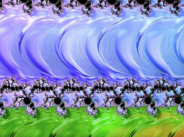 Digital Art - Abstracting The Land From The Sky by Isabella Howard