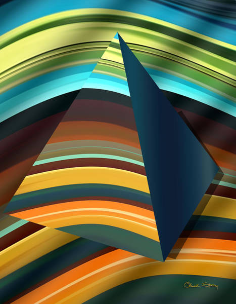 Digital Art - Abstraction 6 3 D Pyramid by Chuck Staley