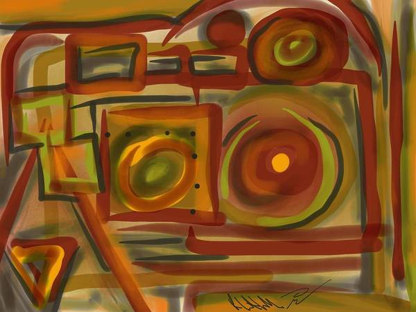 Painting - Abstraction Collect 4 by Robert Watson
