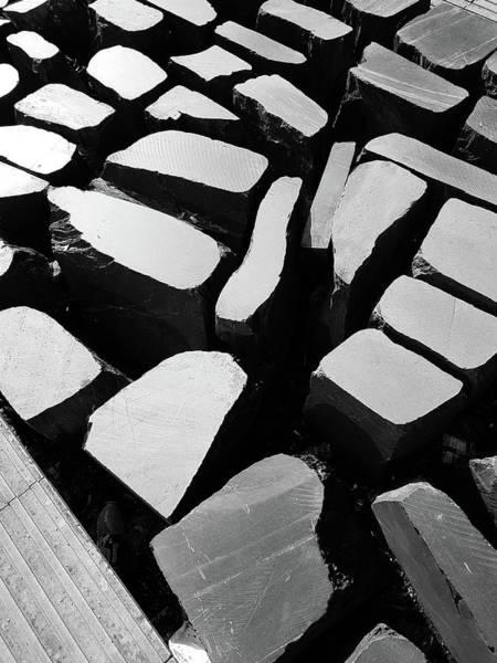 Stone Wall Art - Photograph - Abstraction Via Stones On A Pedestrian Street by Iordanis Pallikaras