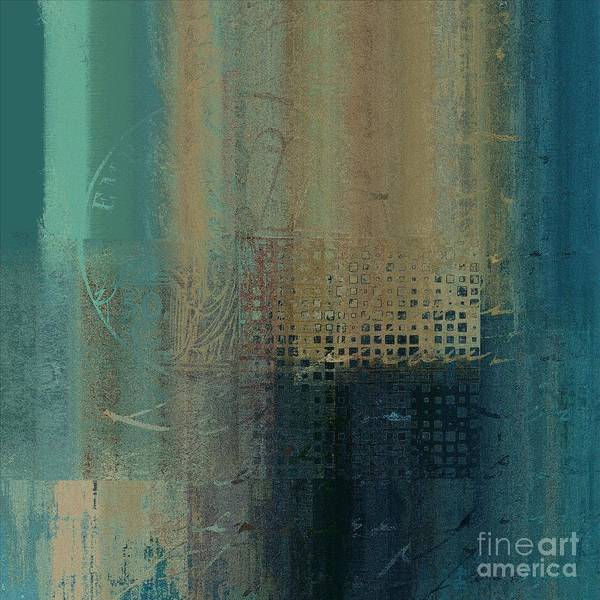 Turquoise Digital Art - Abstractionnel - J-030097043-trq by Variance Collections