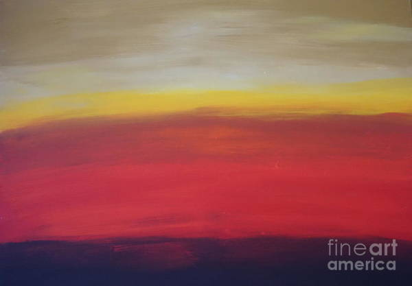 Painting - Abstract_sunset by Jimmy Clark