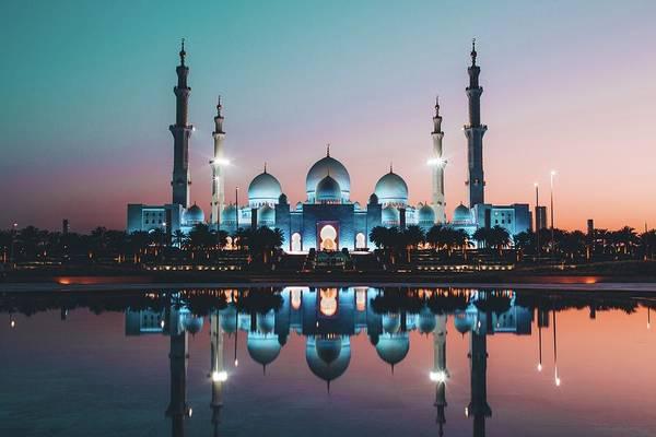 Photograph - Abu Dhabi Mosque by David Rodrigo