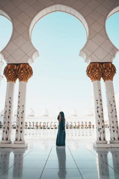 Photograph - Abu Dhabi Mosque by Oliver Sjostrom