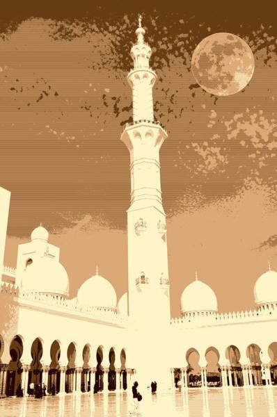 Painting - abu dhabi The Minaret by Adam Asar