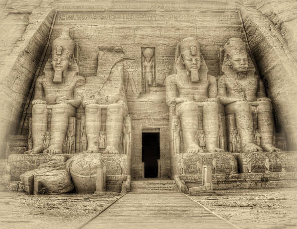 Abu Simbel Antiqued Art Print