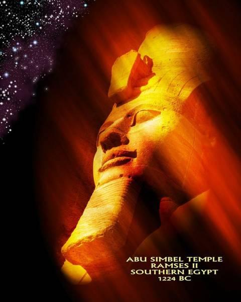 Ra Digital Art - Abu Simbel Temple Ramses 2 by John Wills