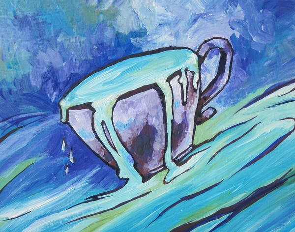 Overflow Painting - Abundance - My Cup Runneth Over by Sandy Tracey