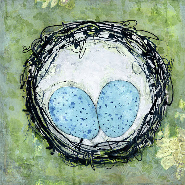 Egg Painting - Abundance In A Nest by Blenda Studio