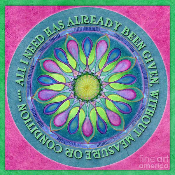 Painting - Abundance Mandala Prayer by Jo Thomas Blaine