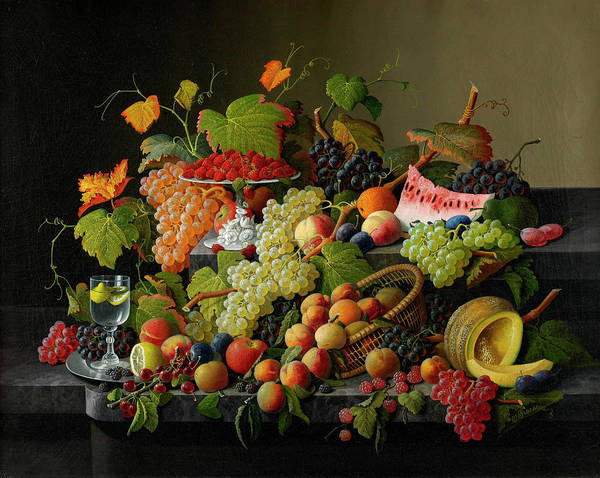 Abundant Wall Art - Painting - Abundant Fruit, 1858 by Severin Roesen