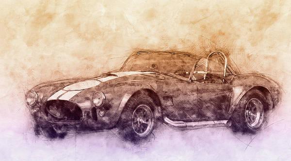 Four Wheeler Mixed Media - Ac Cobra - Shelby Cobra 2 - 1962s - Automotive Art - Car Posters by Studio Grafiikka