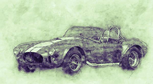 Four Wheeler Mixed Media - Ac Cobra - Shelby Cobra 3 - 1962s - Automotive Art - Car Posters by Studio Grafiikka