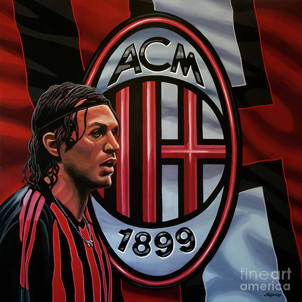 Wall Art - Painting - Ac Milan Painting by Paul Meijering