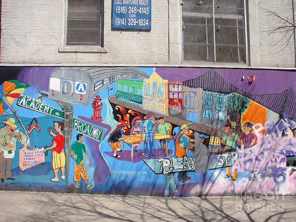 Photograph - Academy Street Mural by Cole Thompson