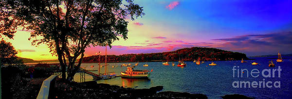 Acadia Bar Harbor Sunset Cruises.tif Art Print