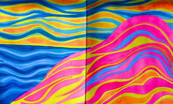 Painting - Acadia Dreams In My Artist's Journal by Polly Castor