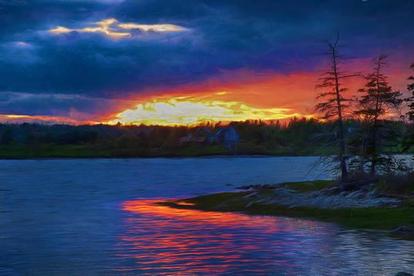 Photograph - Acadia Maine Sunset by Jeff Folger