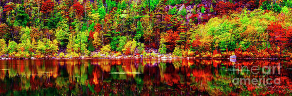 Photograph - Acadia  National Park Somes Sound Fall Maine  by Tom Jelen